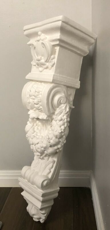 "LARGE 30"" ORNATE CORBEL BRACKET ARCHITECTURAL ACCENT DESIGNER HOME DECOR"
