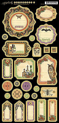 Graphic45 Journaling Chipboard-RARE ODDITIES #1 scrapbooking (27) PCS Vintage