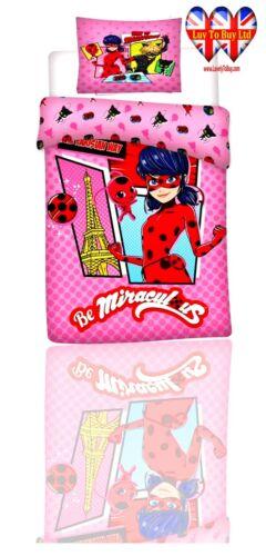 Kids Duvet Se Ladybug,TODDLER Bed Duvet Cover Set,Official Licensed(100 x135)cm