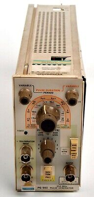 Tektronix Pg502 250 Mhz Pulse Generator Works W Manual