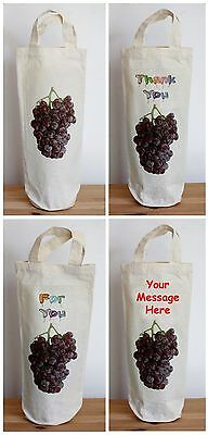 Personalized Round Bed - Canvas Bottle Bag 17cm x 36cm with round bottom Can be Personalised