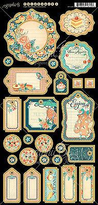 Graphic45 CAFE PARISIAN #1 Journaling Chipboard (27pcs) scrapbooking