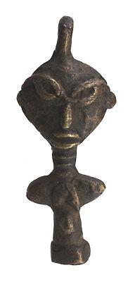 Pendant Doll Ashanti Art African 56 mm Keychain Bronze ethnic 26191