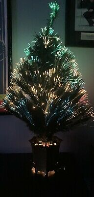 32 Inch Green Fiber Green Fiber Optic Color Changing Christmas Tree