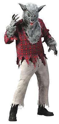 Grau Werwolf Erwachsene Kostüm Wolf Herren Biest Monster Halloween