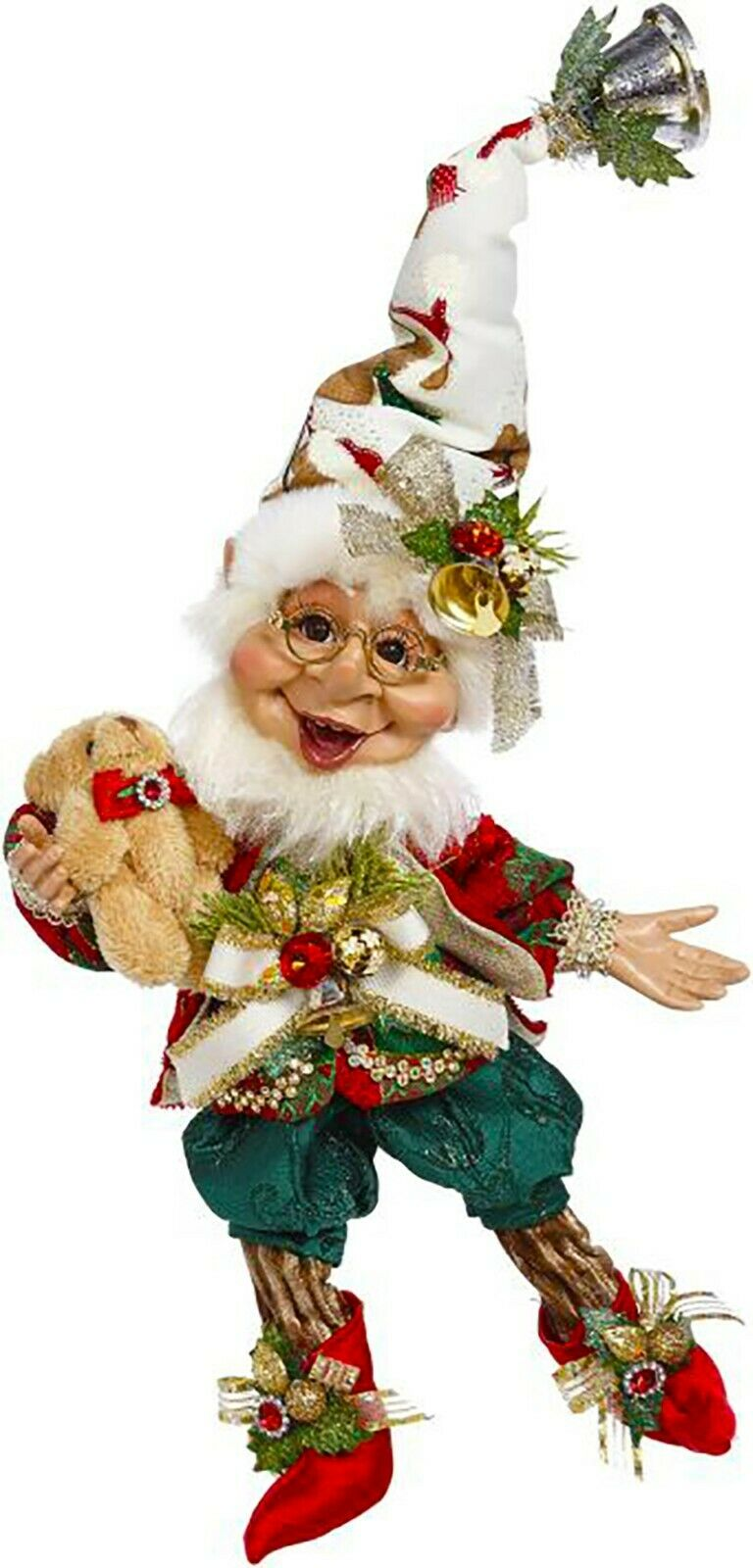 "[Mark Roberts Elves - Teddy Bear Elf 51-05544 Small 10.5"" Figurine </Title]"
