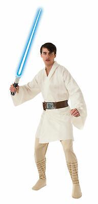 Luke Skywalker Halloween Costumes (Luke Skywalker Costume Adult Star Wars Halloween Fancy Dress - Size Standard)