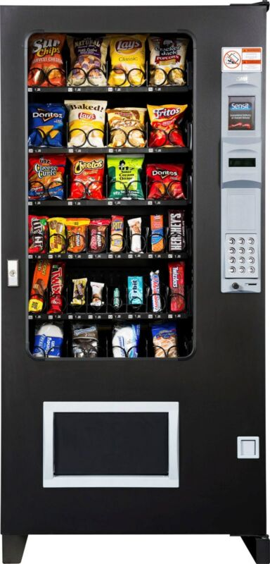 Candy Chip & Snack Vending Machine, AMS 32 Select Vendor + Coin & Bill Changer