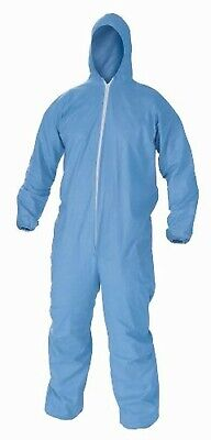 Unisex Disposable Coverall Blue Zip Isolation Gown Overall Protective 3xl
