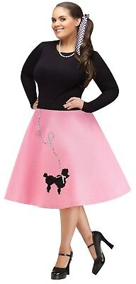 Adult 50s Poodle Skirt Grease Greaser Costume Plus Size](Poodle Skirt Plus Size)