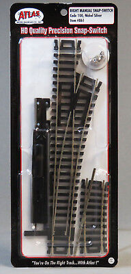 ATLAS HO CODE 100 RIGHT MANUAL SNAP SWITCH MACHINE train track turnout ATL861