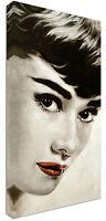 Quadro Moderno Audrey Hepburn Volto - Arredo - Arte - Stampa Su Tela Intelaiato - intel - ebay.it