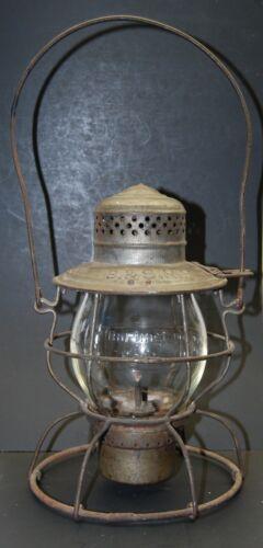 Very RARE B&S- Bevier & Southern Lantern w/ Cast Burlington Route globe