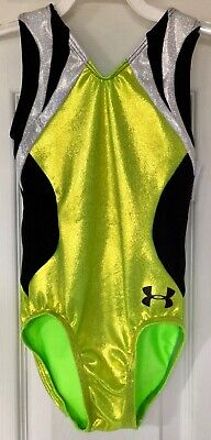 NWT Axis Gymnastic Racer Back Leotard Royal//Silver Stars Foil Trim /& Scrunchie