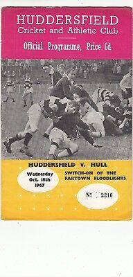 Huddersfield v Hull FC 1967/8 (18 Oct) Fartown Floodlights Switch-On