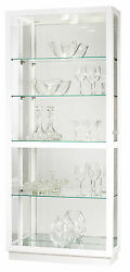 Howard Miller 680-574 (680574) Jayden IV Lighted Curio Cabinet - Gloss White