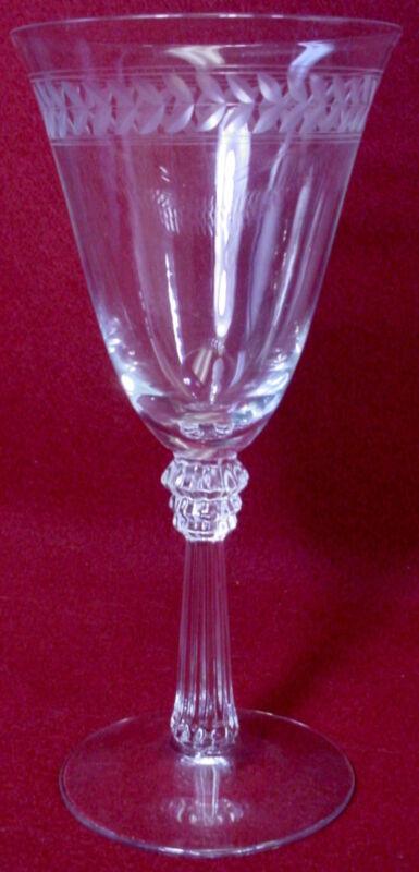 Champagne Sherbet Goblet Glass Fostoria Crystal Sweetheart Rose Pattern