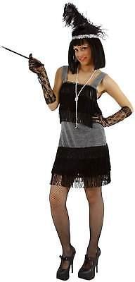 Charleston 20er Jahre Kleid Flapper schwarz Karneval Fasching - Flapper 20er Kleider
