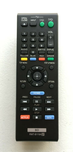 New Sony Replacement Dvd Blu-ray Player Remote Rmt-b119a For Bdp-s470 Bdp-bx110