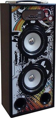 MOBILE BLUETOOTH SOUNDBOX DESIGN- LAUTSPRECHER-RADIO FM-AUX-USB-SD-MP3-BOX10