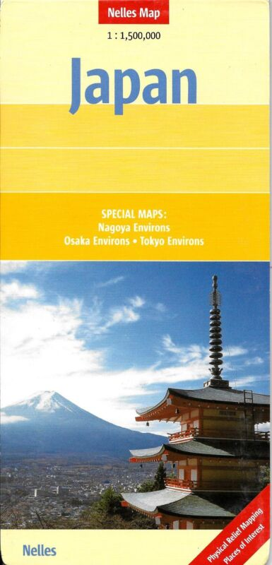 Map of Japan, by Nelles Map