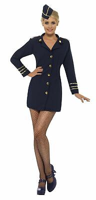 Air Hostess Red Hat Womens Flight Attendant Cabin Crew Fancy Dress Accessory New