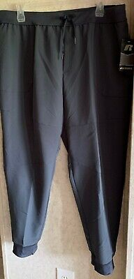 Russell Mens Training Fit SLIM Woven Jogger Pants GRAY Size