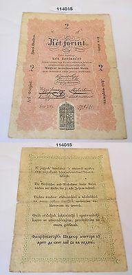 2 Gulden Ket Forint Banknote Ungarn 1848 (114015)