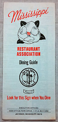 1950's Mississippi Heart of the Southland tourist brochure b