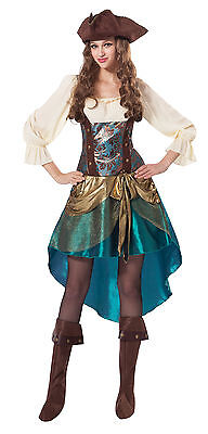 Ladies Womens Pirate Princess Fancy Dress Costume Halloween Outfit UK 10-14 ()
