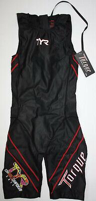 TYR Women's Large Black TORQUE PRO Zipper Back Shortjohn Tri Suit KONA New n (Kona Tri Suit)