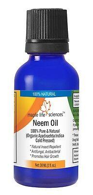 Neemöl 100% Pur & Natürliches Öl Azadirachta Indica Insektenschutzmittel - Neem-Öl Insektenschutzmittel