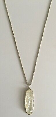 """Kendra Scott Layden 30"""" Long Pendant Necklace in Gold & Ivory Crushed Pearl"""