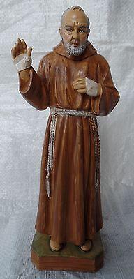 Padre Pio da Pietrelcina 22 Cm Plastic Figure Statue Padre Pione NEW S/173