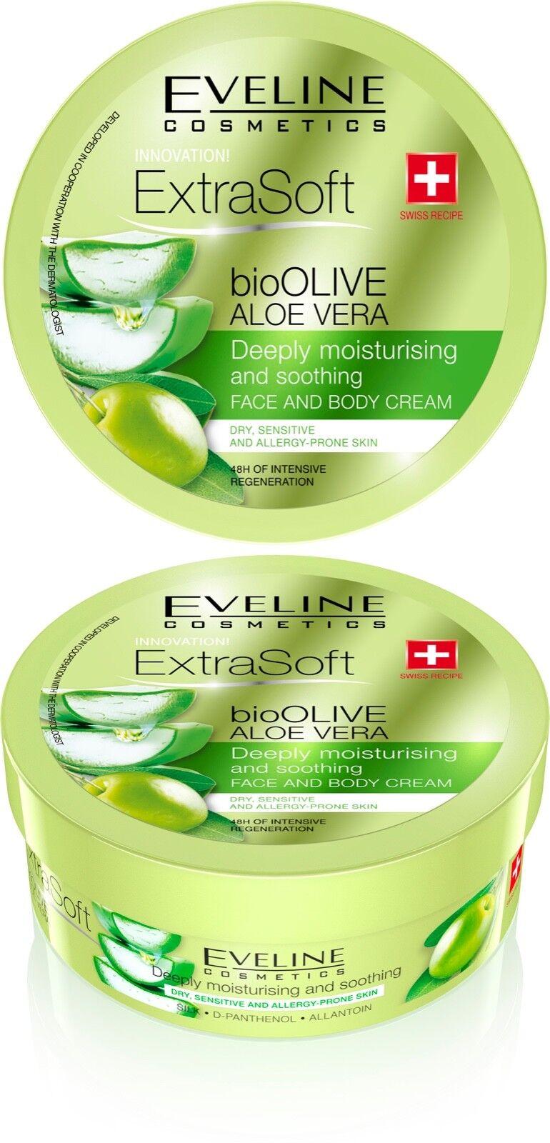 Eveline Cosmetics Extra Soft bio Olive Aloe Vera Deeply Moisturizing body cream Bath & Body