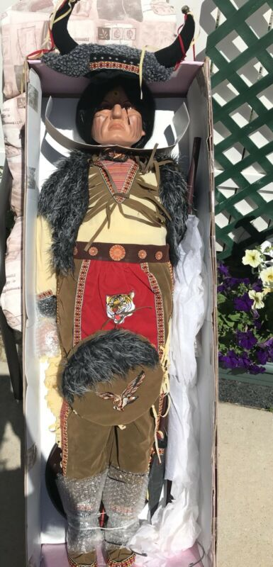 4 Foot Porcelain Doll - Native American - Goldenvale Collection NIB