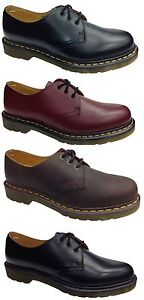 New-DM-Dr-Doc-Martens-1461Z-Black-Cherry-Red-Gaucho-Brown-Shoes-Originals