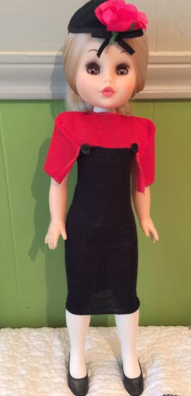 "Effe Doll Bambole Franca Blonde Hair Italy - 18"" in Pierre Cardin Dress"