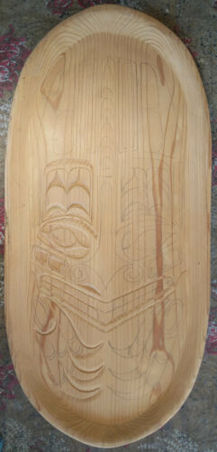 Unfinished Wood Carving Roughout Hand Carved Native Looking Wall Hanging 46x21