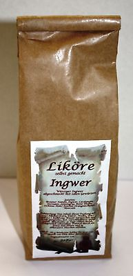 Ingwer Likör Ansatz 265 g kräftig würzig selber machen 1kg/22,26 Tee-Meyer g1