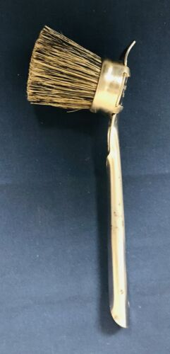 Vintage (NEW) Shoe Shining Brush Parks & Parks.  Metal Handle with Sole Cleaner