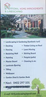 Handyman ,  landscaping, decking, gardening, fencing, etc...
