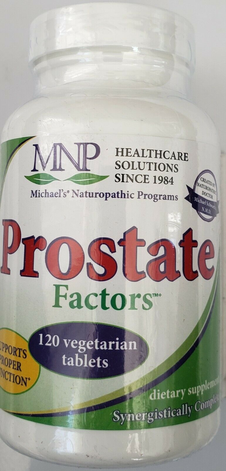 MNP  Prostrate Factors Supports Proper Function  120 vegetarian tablets