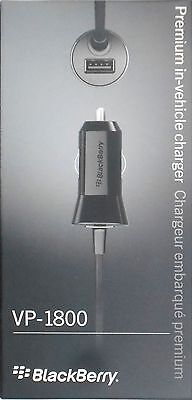 Blackberry Oem Car Charger (Blackberry OEM VP-1800 Premium Car Charger Micro USB PRIV/Passport/Classic/Z30 )