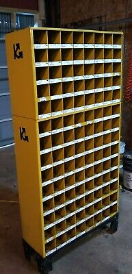 Metal 112 Hole Storage Bolt Bin Cabinet Compartment Nuts Flat Lock Washers Screw
