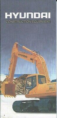 Equipment Brochure - Hyundai - Construction Product Line Overview E6329