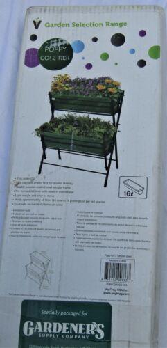 "VegTrug Poppy Green Two Tier Ladder Planter 33 1/2 X 26 1/4"", new."