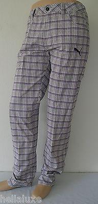 8351a709b774 TOUR ED~Puma Golf TECH PLAID 5 POCKET PANT UV PROTETION RICKIE FOWLER  Trouser~32