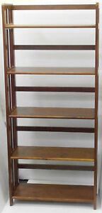 New BOOK CASE BOOKCASE, BOOKSHELF 5 TIER STORAGE DISPLAY BOOKSHELVES Oak