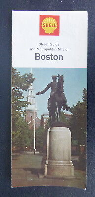 1966 Boston street  map Shell oil  gas Paul Revere Massachusetts